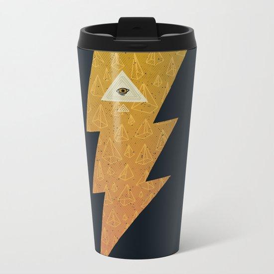 Something with lightning and stuff Metal Travel Mug