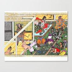 Bizarro Au Go-Go Ukiyoe Style Canvas Print