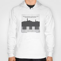 casablanca Hoodies featuring No192 My Casablanca minimal movie poster by Chungkong