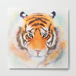 Tiger - a watercolor painting Metal Print