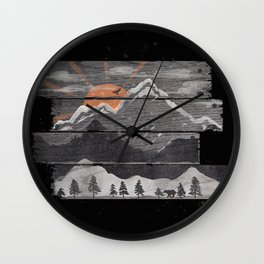 Into the Grey... Wall Clock