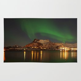 Landscape with the Northern Lights Rug