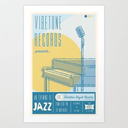 Vibetone Jazz Art Print