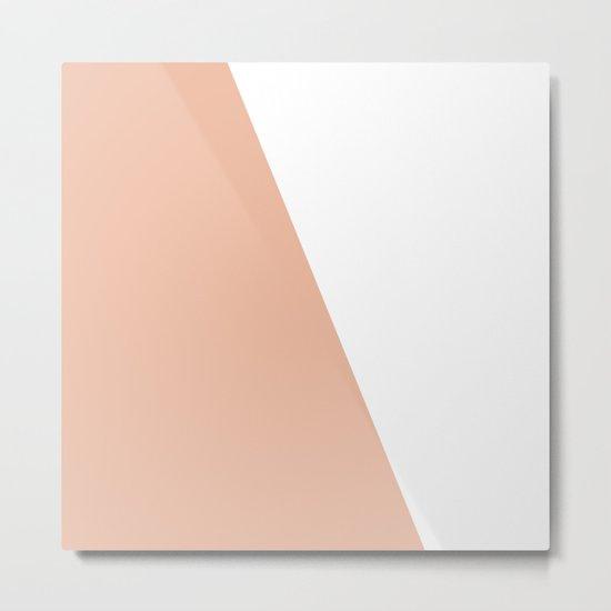 Geometric Ballet Slipper Pink + White Metal Print