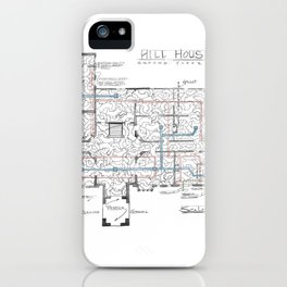 Haunting of Hill House Blueprint iPhone Case