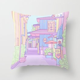 Continuously Lost in Japan Throw Pillow