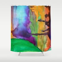 wonderland Shower Curtains featuring Wonderland by Cailin Rawlins