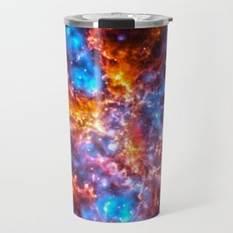 Colorful Cosmos - Red and Blue Travel Mug