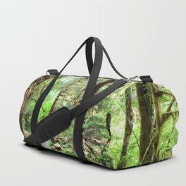 Emerald Green Forest Portrait Duffle Bag