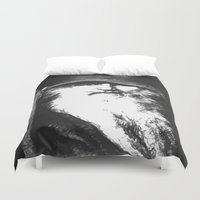 mythology Duvet Covers featuring  Scandinavian Mythology the Ancient God Odin by taiche