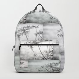 Queen Anne's Lace in Black and White Backpack