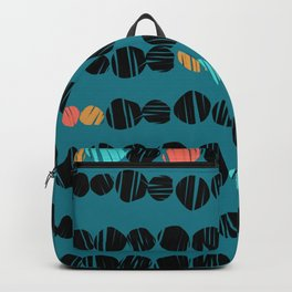 Coloured spots on teal Backpack