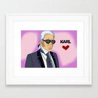 karl Framed Art Prints featuring Karl by Irina Lendyel
