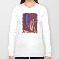 blondie Long Sleeve T-shirts featuring You Comin' Blondie?  by Karen Hallion Illustrations