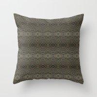 metallic Throw Pillows featuring Metallic by Sarah McMahon