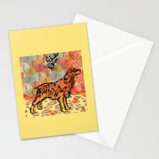 Hunting dog pop art Stationery Cards