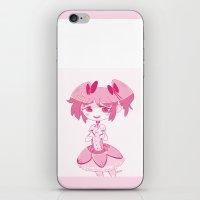 madoka magica iPhone & iPod Skins featuring Madoka  by n0rara