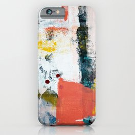13th and Grant: a pretty street art piece in pink black and yellow by Alyssa Hamilton Art iPhone Case