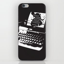 Ernest Hemingway Quote iPhone Skin