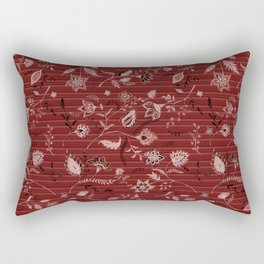 Paisleys in Maroon - by Fanitsa Petrou Rectangular Pillow
