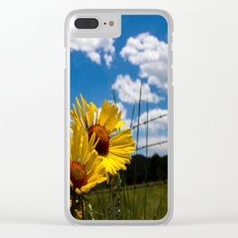 A Rocky Mountain Sunflower Clear iPhone Case