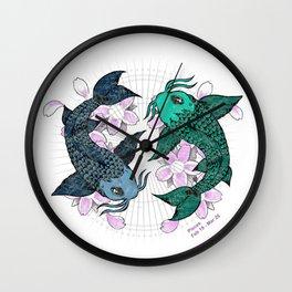 Koi fish Pisces Wall Clock