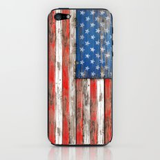 USA Vintage Wood iPhone & iPod Skin