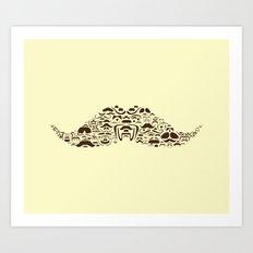 Mustache Of Mustaches Art Print