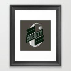 Stop: Banner Time Framed Art Print