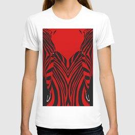 Art print: Red zebra pop art T-shirt