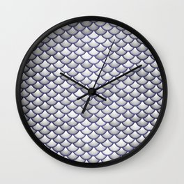 Silver Scales Wall Clock