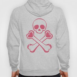 Valentine's day T-shirt Love With Jolly Roger Hoody