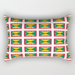 flag of grenada -grenadian,grenadines,Saint georges,grenville,Gouyave,Carriacou,nutmeg Rectangular Pillow