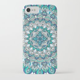 INTO THE BLUE Mandala Drawing iPhone Case