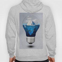 Iceburg in a Light Bulb Hoody