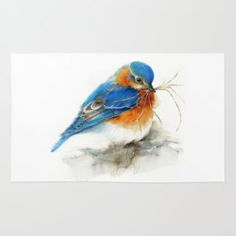 Eastern Bluebird Nesting Rug