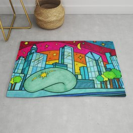 Cloud Gate in Chicago, Illinois Rug