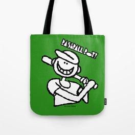 Baseball Boy Green Tote Bag