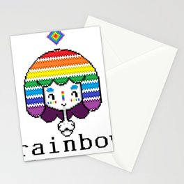 RAINBOW girl Stationery Cards