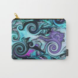 Purple Opal Wave Carry-All Pouch
