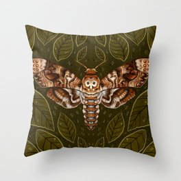 Deaths-Head Moth Throw Pillow