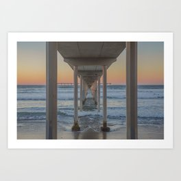 Under the Ocean Beach Pier, San Diego, CA Art Print