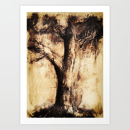 Burnt Tree Art Print