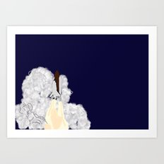 Shuttle Launch Art Print