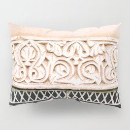 Graphic tile pattern | Moroccan Arabic tiles in earth tones. | Pastel film marrakech photography Pillow Sham