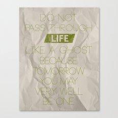 Do Not Pass Canvas Print