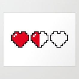 Life - Pixel Art Art Print