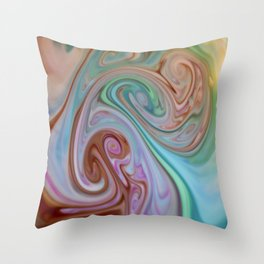 Wonders of Food Color Throw Pillow
