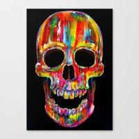 skull Canvas Prints featuring Chromatic Skull by John Filipe
