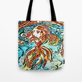 Bubbly Goldfish watercolor by CheyAnne Sexton Tote Bag